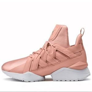 65fd35ae17c1 Puma Shoes   Muse Echo Satin Womens Sneakers 85 Peachbeige   Poshmark